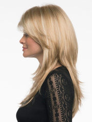 Long Layered Wig with Lace Front and Monofilament Top