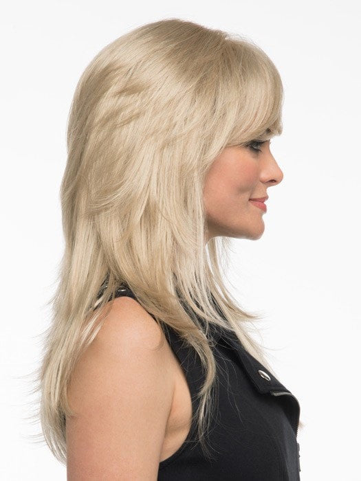 Shorter crown layers and fringe | Color: Light Blonde