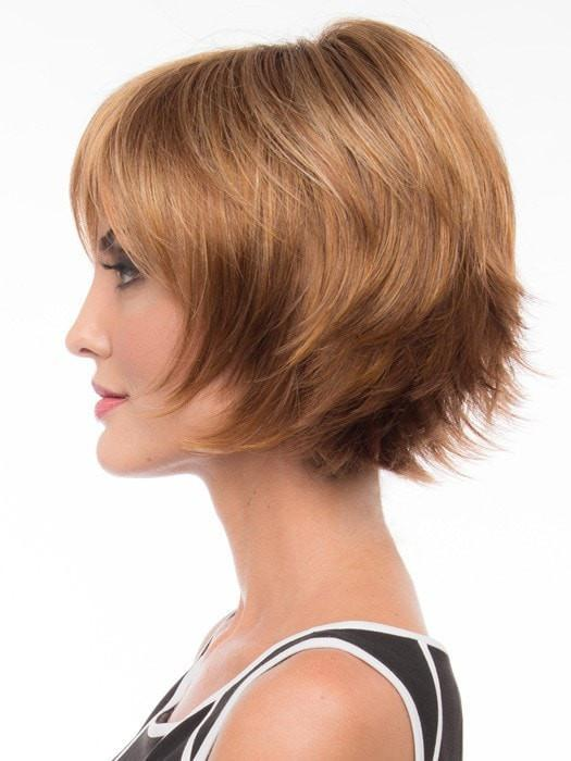 The monofilament top is sheer giving a natural-looking part and natural volume