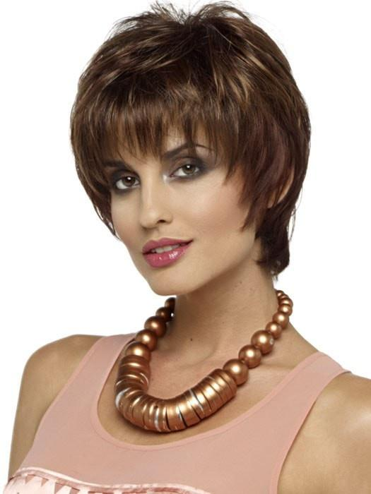 ELLE Wig by Envy in CINNAMON RAISIN | Medium Brown with Auburn and Cinnamon highlights