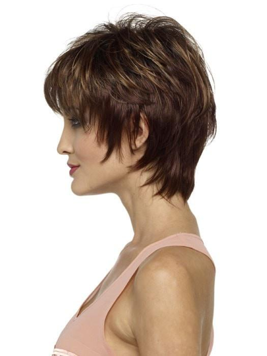 Short Layered Wig | Color: Cinnamon Raisin