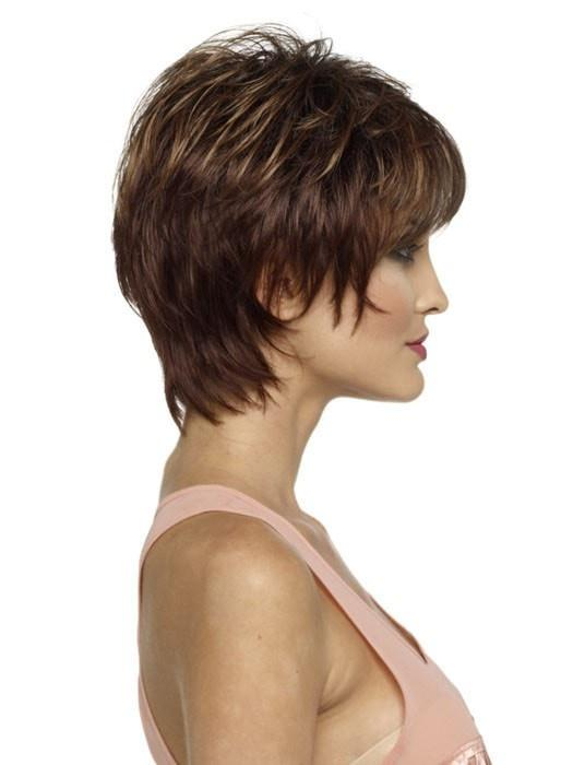 Short Layererd Cut in CINNAMON RAISIN | Medium Brown with Auburn and Cinnamon highlights