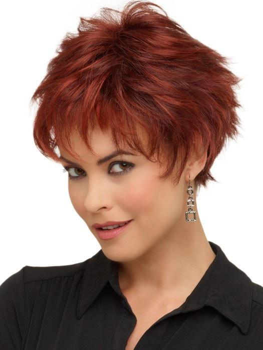 Envy Wigs Genny Wig : Monofilament Top | Color Dark Red