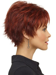 Envy Genny Wig : Right Profile | Color Dark Red
