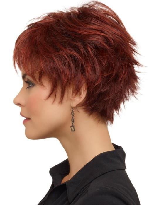 Envy Genny Wig : Left Profile | Color Dark Red