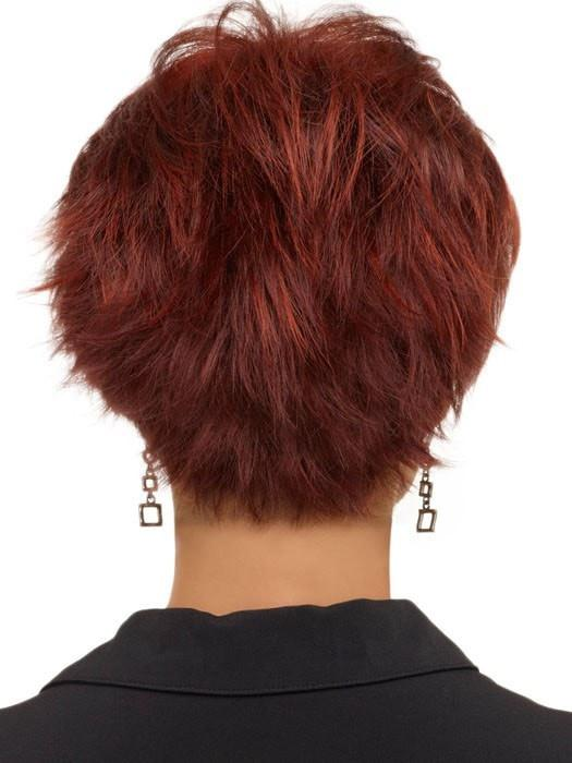 Envy Genny Wig : Back View | Color Dark Red