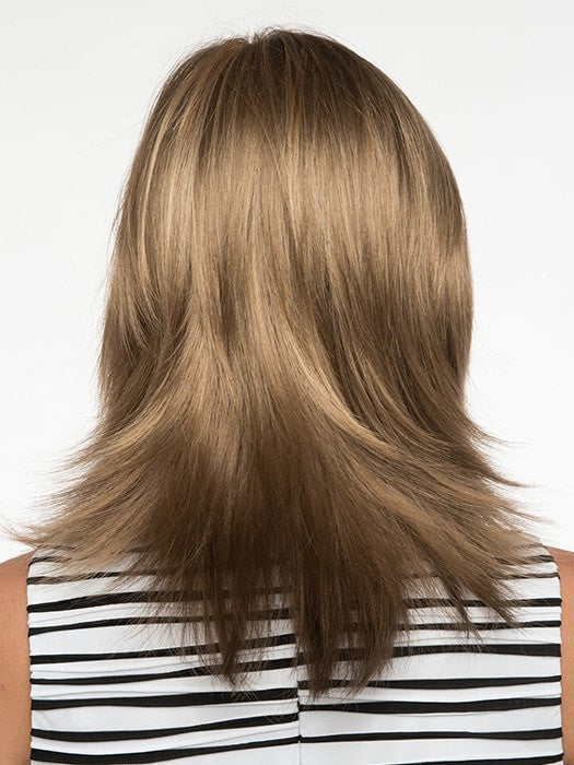Long textured layers in the back | Back Meaures: 9"