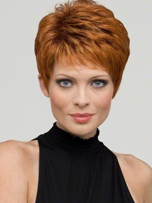 Heather by Envy Wigs : Human Hair Blend | Color LIGHTER RED