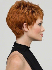 Envy Heather Wig : Right Profile | Color LIGHTER RED