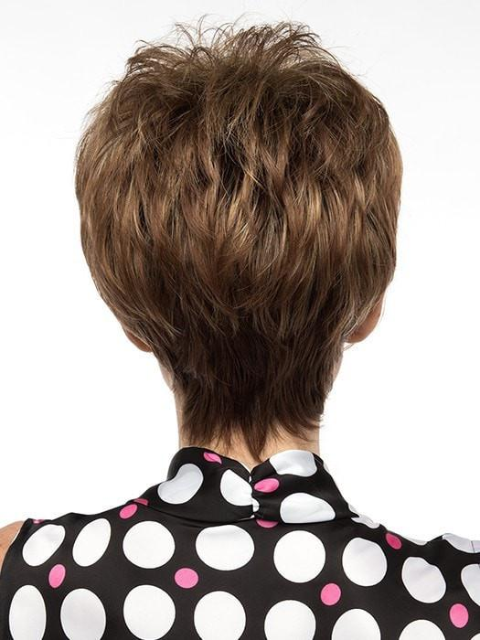 Perfectly crafted into an ultra modern pixie cut | Color: Chocolate Caramel