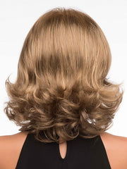 Jade by Envy | Wavy mid-length style | Color: Almond-Breeze