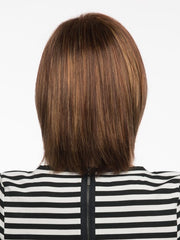 Above the shoulder cut, with wispy ends | Color: Cinnamon Raisin
