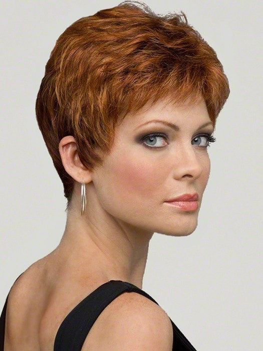 This chic pixie cut offers styling flexibility with its sophisticated silhouette