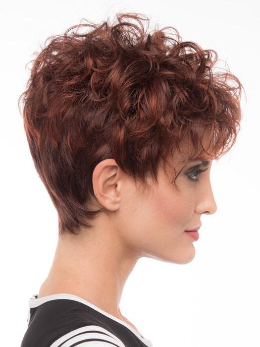 The synthetic hair is pre-styled and will keep its shape in any weather, even after you wash it