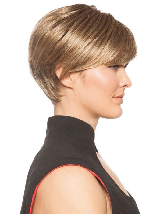 Wear the fringe forward or tuck it behind the ear | Color: Frosted