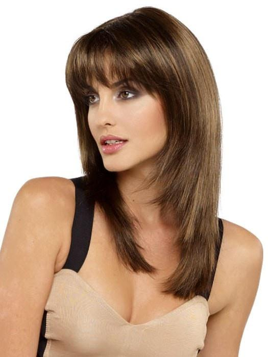 Envy Leyla Wig : Side View | Color MEDIUM BROWN