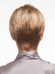 Cut to have a tapered nape and blended layers | Color: Sparkling-Champagne