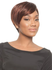 This short angled cut works on all face shapes | Color: Chocolate Cherry