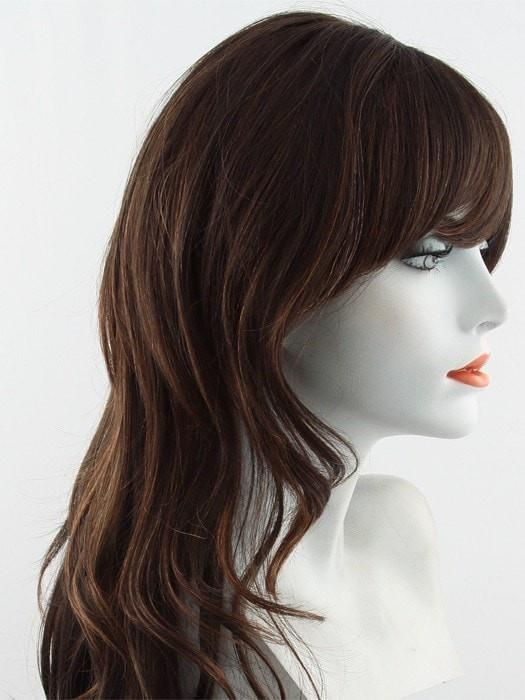 IHESPRESSO | Medium Brown and Light Chestnut Brown mixed with highlight of Dark Auburn and Amber