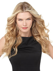 "R25 = Ginger Blonde: Golden Blonde with subtle highlights | 18"" Remy Human Hair Extension Kit 10pc by Hairdo"