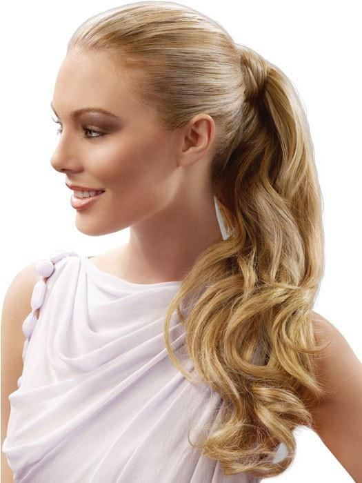 Color R14/88H = Golden Wheat: A Medium Blonde Streaked With Pale Gold Highlights | Long Wave Pony by hairdo