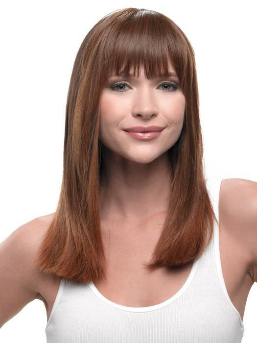 Color R830 = Ginger Brown: Warm Medium Brown | Clip In Bangs by Hairdo