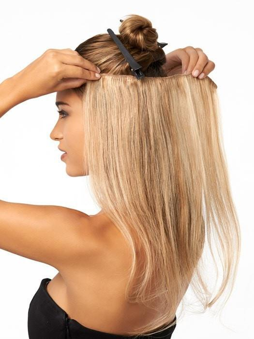 Easy To Apply: Pin your hair up and just clip it in!