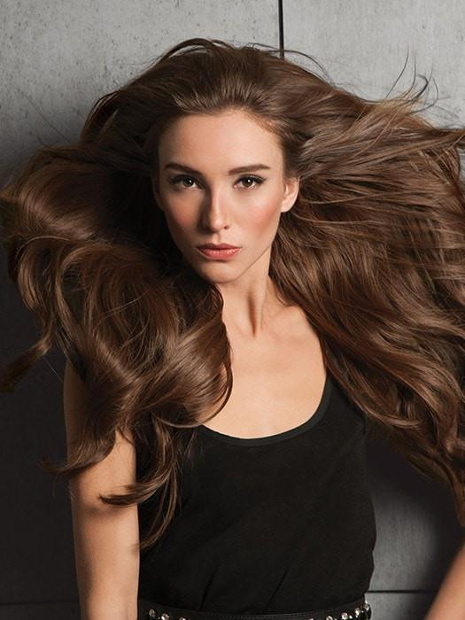 "20"" INVISIBLE SYNTHETIC HAIR EXTENSION by Hairdo in R830 GINGER BROWN 