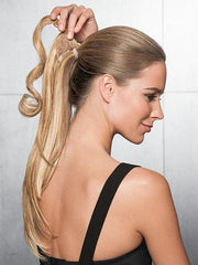 Conceal your own hair, simply wrap the strip of hair around & fastens with Velcro