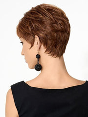 Tapered neckline with a clean cut edge | Color: R3025S+