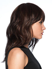 Tru2Life® fiber can be heat styled using thermal styling tools up to 350° | Color: R435S+ Black Cherry