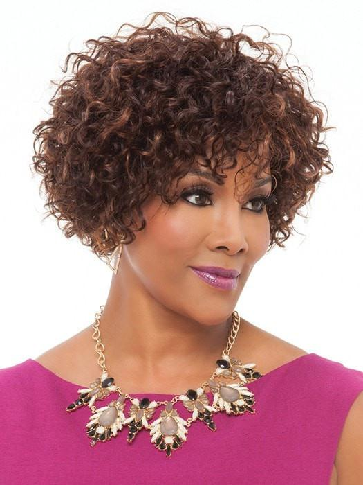 The human hair comes styled with a tight curl/crimp | Color: FS4/30