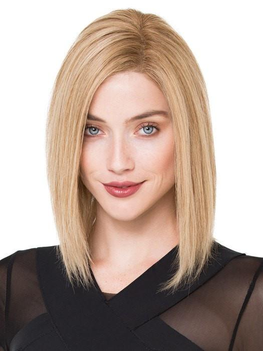 TRINITY PLUS by Ellen Wille in SANDY BLONDE ROOTED | Medium Honey Blonde, Light Ash Blonde, and Lightest Reddish Brown Blend with Dark Roots