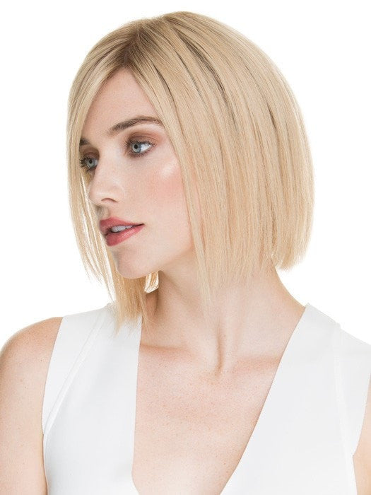DELICATE by Ellen Wille in CHAMPAGNE ROOTED | Light Beige Blonde,  Medium Honey Blonde, and Platinum Blonde Blend with Dark Roots