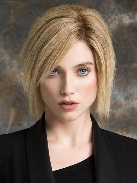 BRILLIANCE by Ellen Wille in SANDY BLONDE ROOTED | Medium Honey Blonde, Light Ash Blonde, and Lightest Reddish Brown Blend with Dark Roots