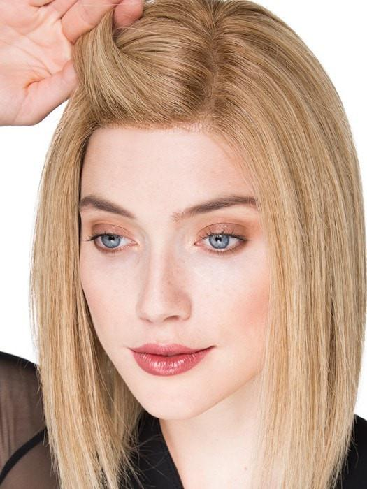 The lace front is sheer and disappears into your skin