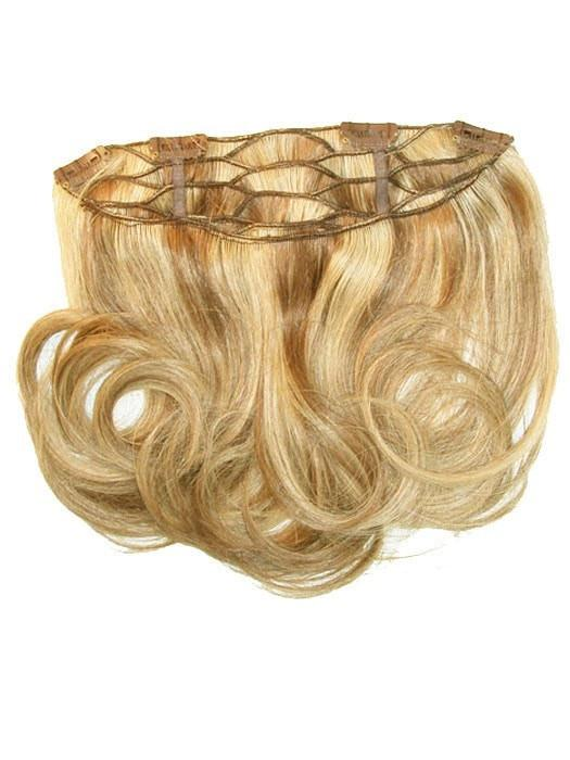 "10""  EASIVOLUME HUMAN HAIR CLIP IN VOLUMIZER (1pc) in 12F PECAN PRALINE 