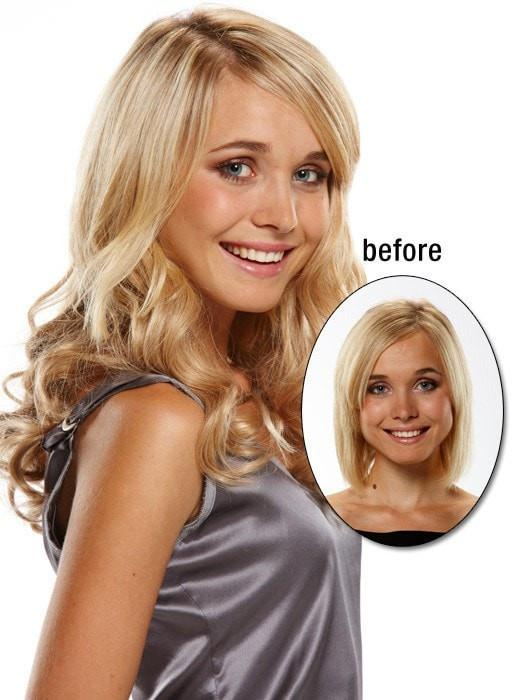 EASIVOLUME can be applied in seconds and will attach safely and securely without causing damage to your own hair