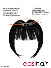 easiBangs Human Hair Clip In Bangs (1pc)