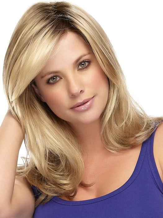 GISELE by Jon Renau in 12FS8 SHADED PRALINE | Golden Brown/Warm Platinum Blonde/Plat. Blonde Blend, Shaded w/ Med Brown