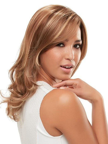 GISELE by Jon Renau in FS26/31S6 SALTED CARAMEL | Red Brown w/ Med Red Gold Blonde Bold Highlights, Shaded w/ Brown