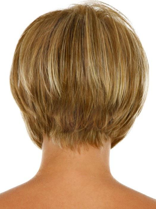 Blow-dried over a round brush for a super sleek bob