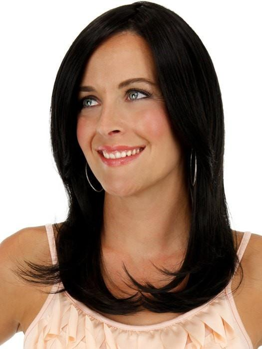 Comb the ends under or out | Color: 1B