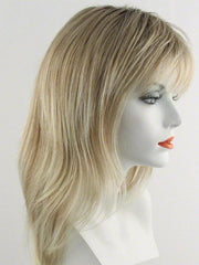 27T613S8 | Medium Natural Red-Gold Blonde and Pale Natural Gold Blonde Blend and Tipped, Shaded with Medium Brown
