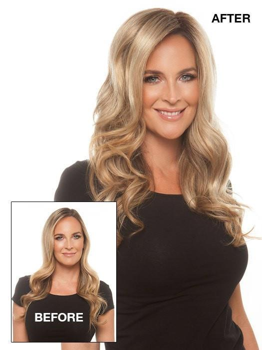 Before & After | Can be worn to add thickness or conceal thinning hair | Color: 12FS8