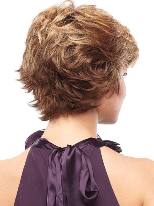 Tapered neckline with flipped out ends