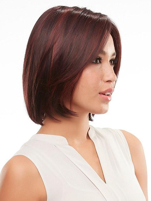 KRISTEN by Jon Renau in FS2V/31V CHOCOLATE CHERRY | Black/Brown Violet, Medium Red/Violet Blend with Red/Violet Bold Highlights