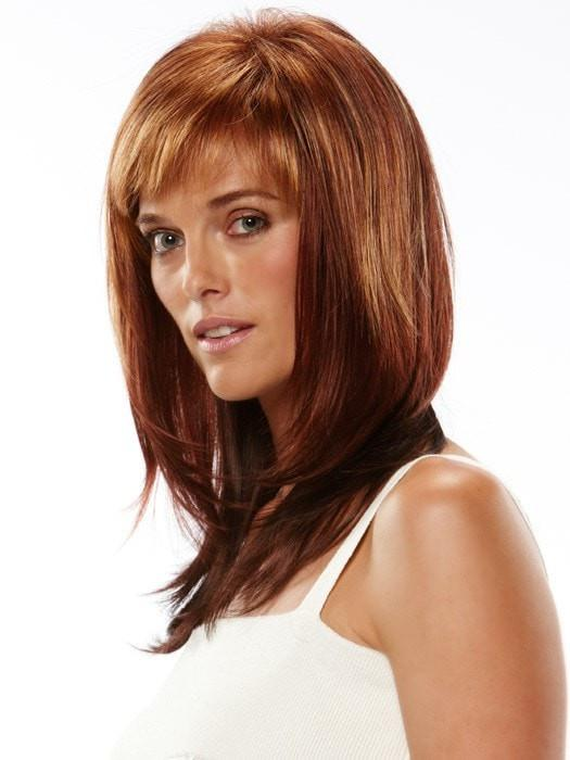 32BF | Medium Natural Red Base with Medium Red-Gold Blonde Frost on Top and Dark/Medium Red Nape