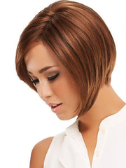 The cut is beautifully angled to be longer in the front and shorter in the back