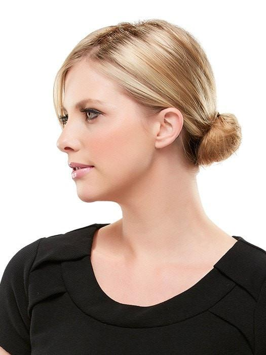 Once in, you can put your hair in a pony or bun